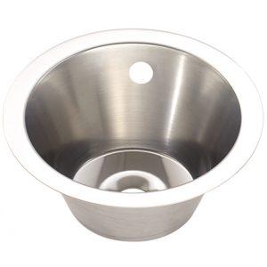Medium Stainless Steel Inset Wash Basin - 310mm diameter