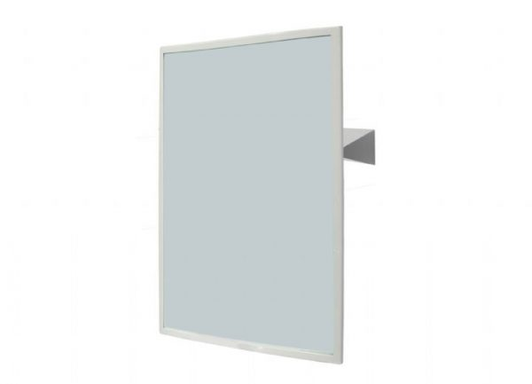 NOFER 700 x 500mm Reclining Mirror With Satin Finish