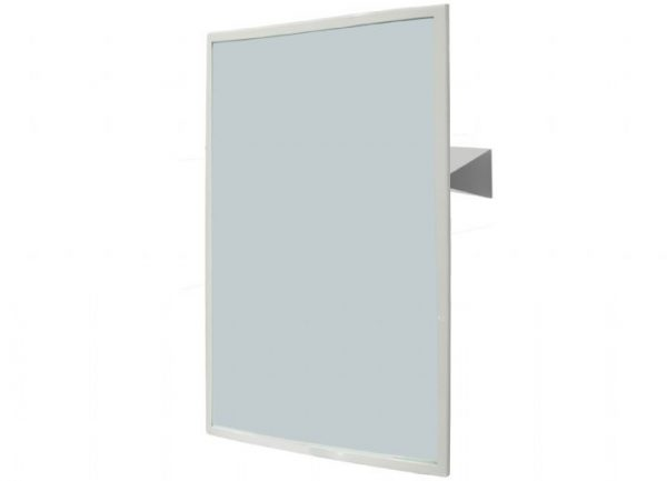 NOFER 800 x 600mm Reclining Mirror Satin Finish