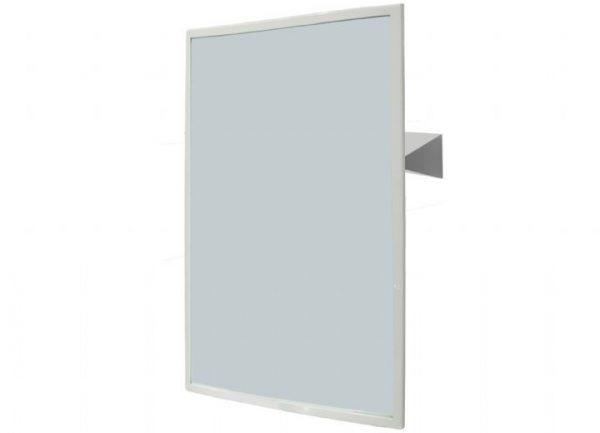 NOFER 800 x 600mm Reclining Mirror White Frame