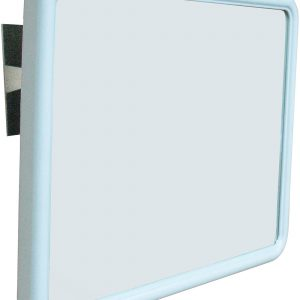 NOFER 390 x 540 x 75mm White ABS Frame Reclining Mirror