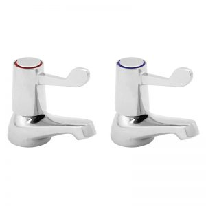 "Basin Taps 1/2"" with Levers - 6"""