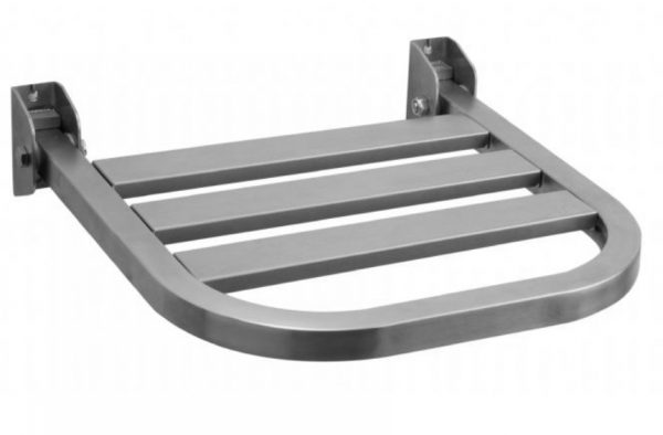 NOFER Satin finish Stainless Steel Foldable Shower Seat