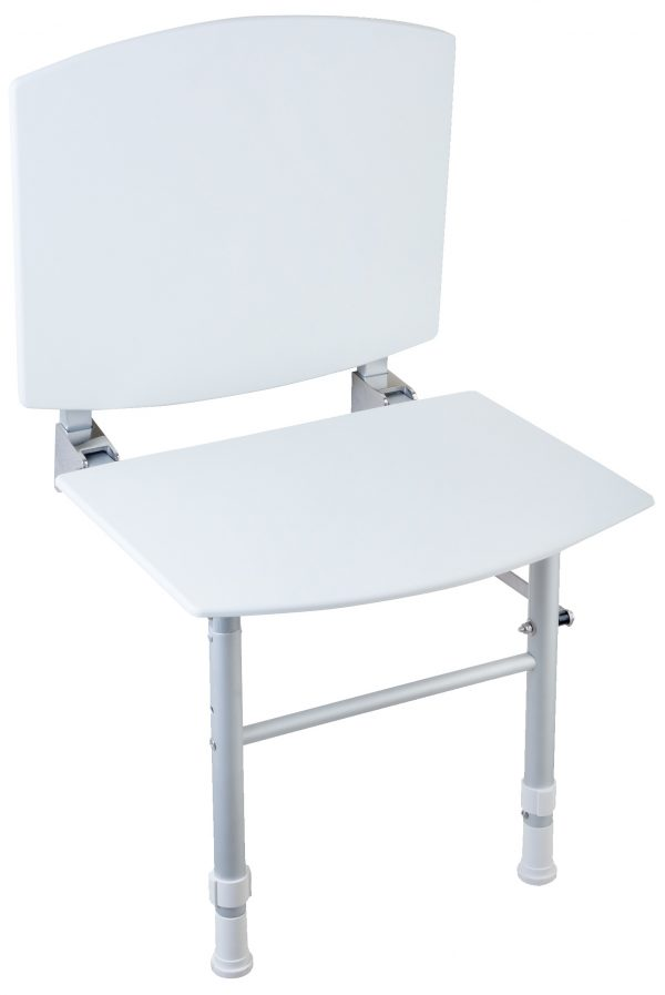 NOFER Foldable Seat with Backrest and Floor Feet