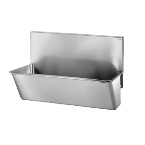 Surgical Scrub-up Trough with High Splashback – 700mm x 440mm