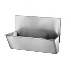Surgical Scrub-up Trough with High Splashback – Hospital scrub sinks -700mm x 440mm