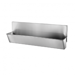 Surgical Scrub-up Trough with High Splashback - 2100mm x 440mm