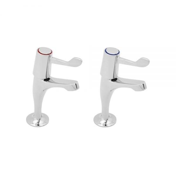 """Pillar Taps with Levers - 6"""""""