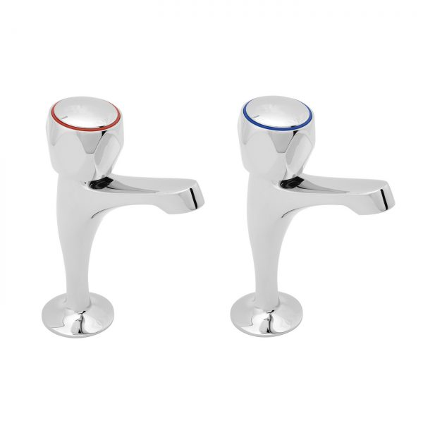 """Pillar Taps with Tricon Heads - 1/2"""""""