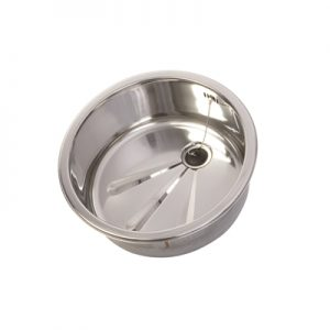 Round Inset Polished Kitchen Sink - Stainless Steel