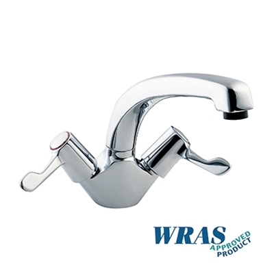 "Monoblock Sink Mixer Tap - with 8"" bi-flow Swivel Spout"