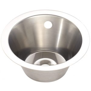Medium Stainless Steel Inset Wash Basin - 260mm diameter