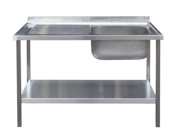 1200 x 600mm Sink and Under Frame with Left Hand Drainer