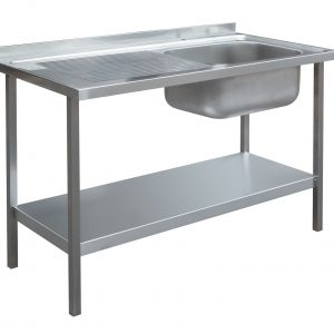 1200 x 600mm Sink Unit - Single Bowl, Left Hand Drainer