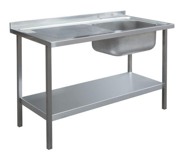 1200 x 600mm Sink Unit - Single Bowl, Left Hand Drainer