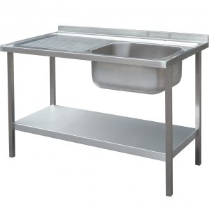1500 x 600mm Sink Unit and Under Frame with Left Hand Drainer