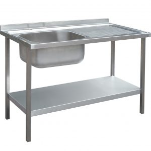 1500 x 600mm Sink Unit and Under Frame with Right Hand Drainer