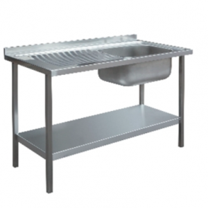 1000 x 600mm Single Bowl Sink Unit - Left Hand Drainer
