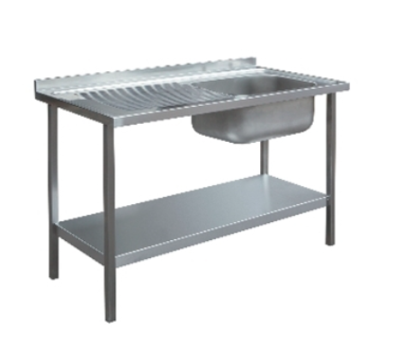 1000 x 600mm Single Bowl Sink Unit - Left Hand Drainer