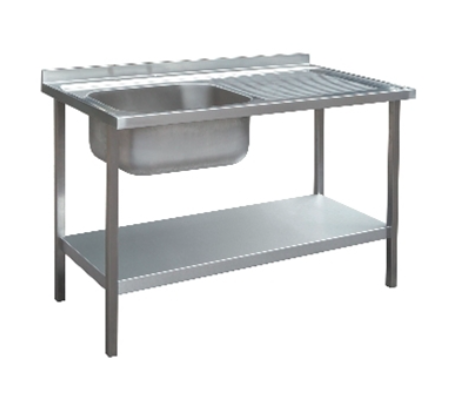 1000 x 600mm Single Bowl Sink Unit - Right Hand Drainer