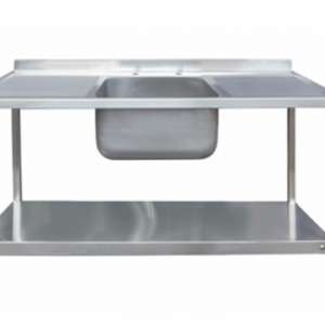 1500 x 600mm Single Bowl Double Drainer Sink Unit