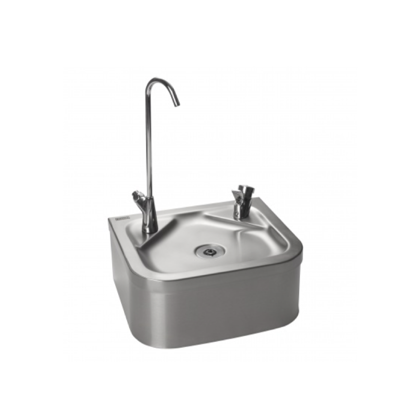Wall-Hung Dual Drinking Fountain with Bottle Filler