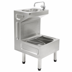 Stainless steel janitorial sink