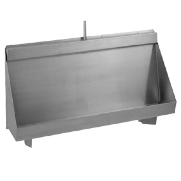Wall Hung Urinal - stainless steel - 1800mm
