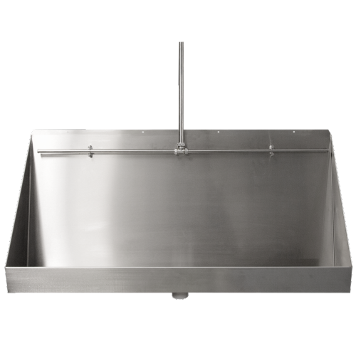 Wall Hung Urinal - stainless steel - 2400mm