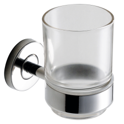 Tumbler holder in high polished stainless steel