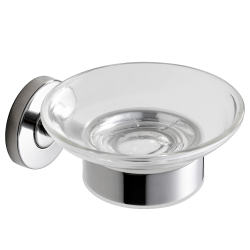Soap dish in high polished stainless steel