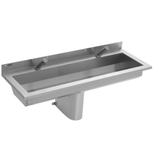 1200mm wash trough with electronic taps