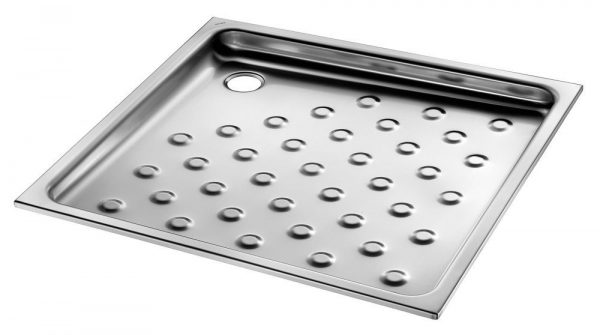Stainless steel recessed shower tray