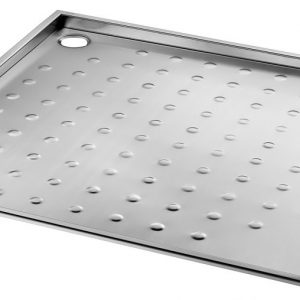 PMR Recessed shower tray in stainless steel