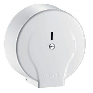 Jumbo toilet paper dispenser - 400m white steel