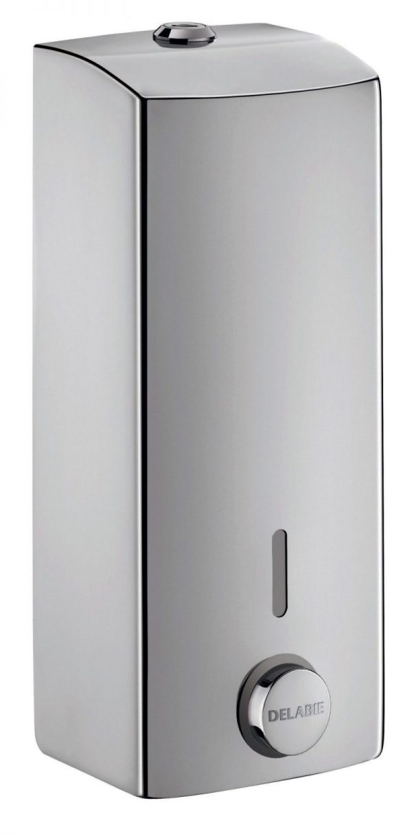 Stainless steel liquid soap dispenser with soft touch - 1 litre
