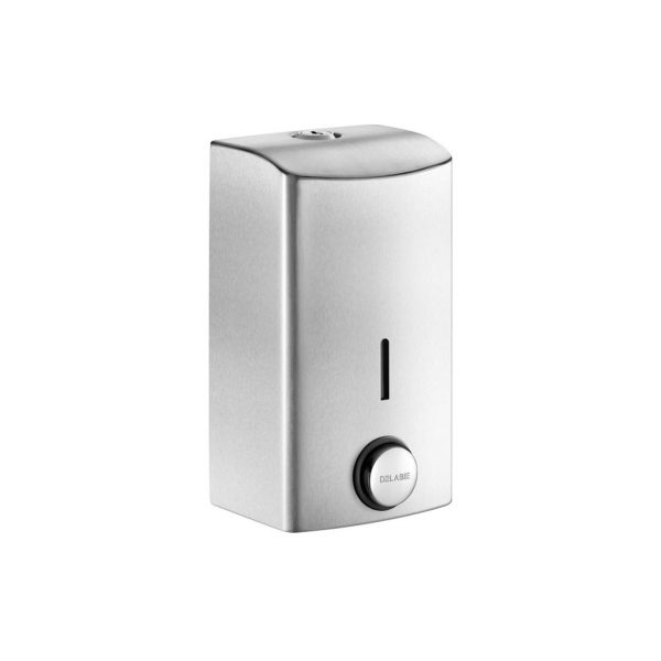 Stainless steel liquid soap dispenser with soft touch operation - 0.5 litre