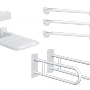 Doc M basic shower or changing room pack Matt white