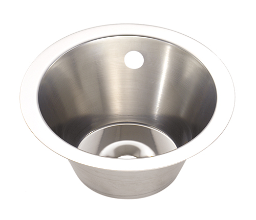 Large Stainless Steel Inset Wash Hand Basin - 340mm diameter