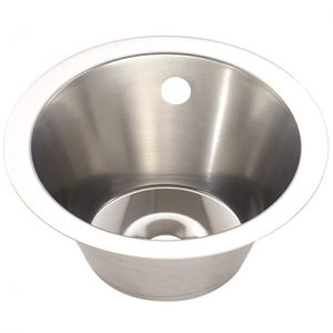 Large Stainless Steel Inset Wash Hand Basin - 355mm diameter