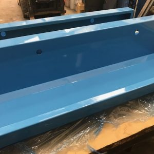Stainless steel coloured wash troughs