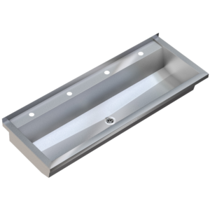 Stainless steel wash trough 2400mm