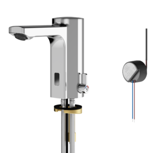 Electronic sensor mixer tap mains feed