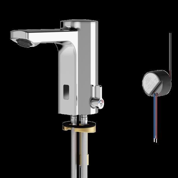 Electronic sensor mixer tap mains feed