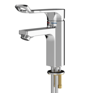 Single lever accessible tap
