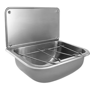 Stainless steel wall mounted cleaners sink