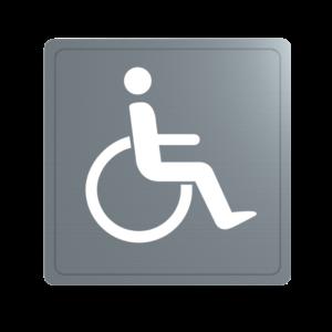 Delabie disabled door sign