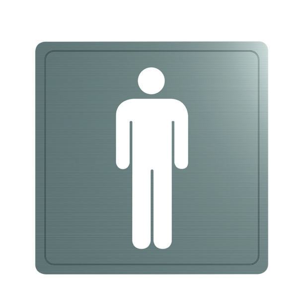 Delabie male toilet sign