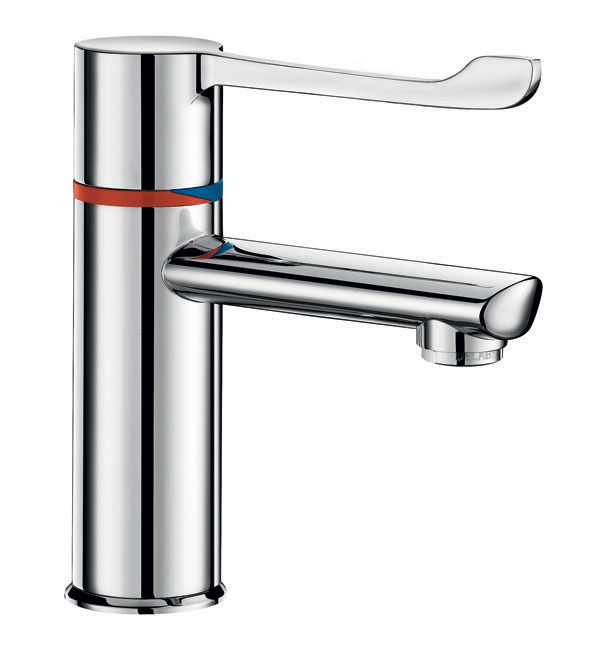 Delabie SECURITHERM thermostatic basin mixer with copper tails