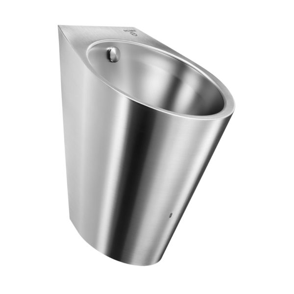 Stainless steel urinal with hybrid rinsing system